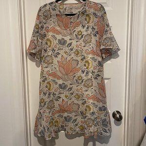Shimmer Ruffle Dress